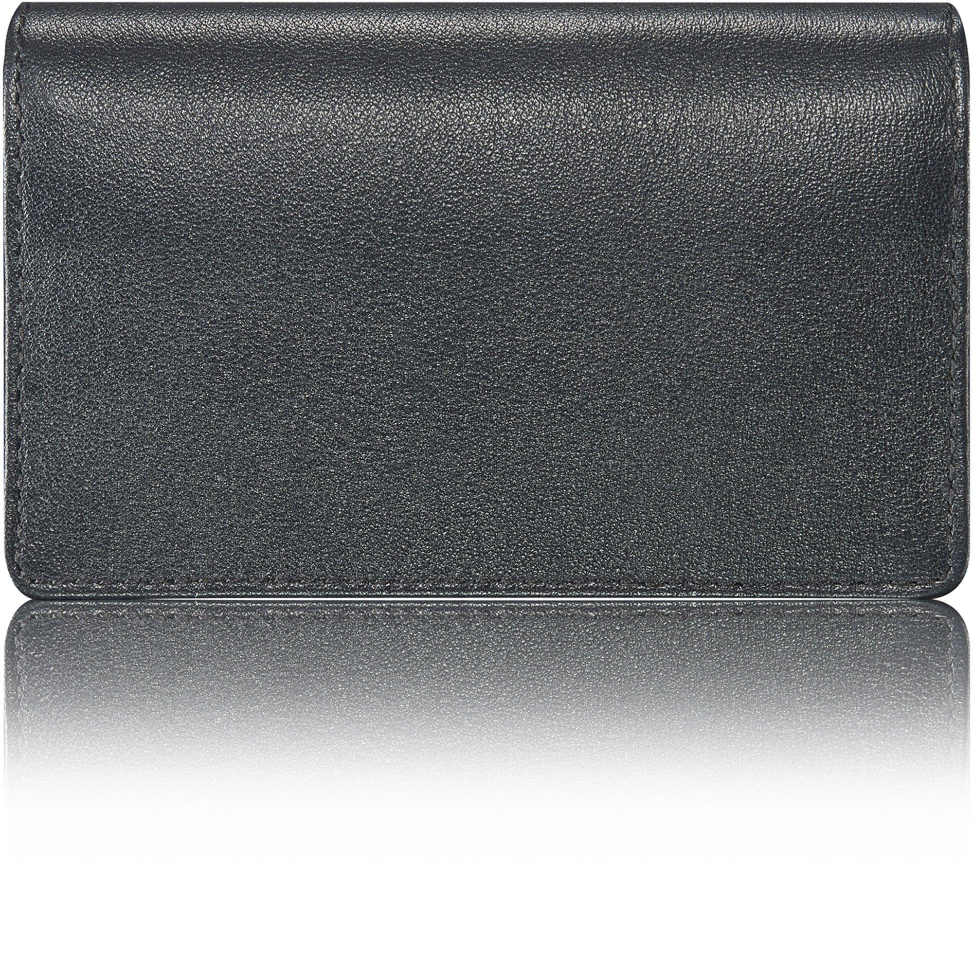 KAVAJ Leather Business Card Holder Case Wallet ''Singapore'' black - Genuine Leather by KAVAJ (Image #10)
