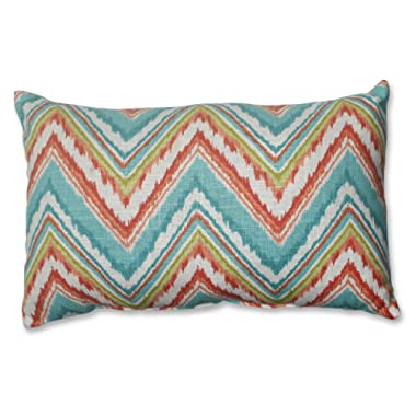Pillow Perfect Rectangular Throw Pillow, Chevron Cherade