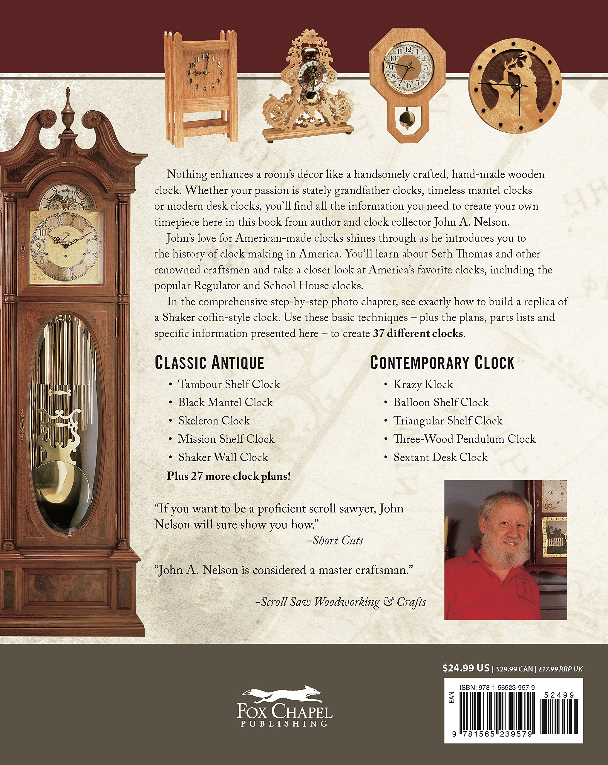 Complete Guide To Making Wooden Clocks 3rd Edition 37 Woodworking