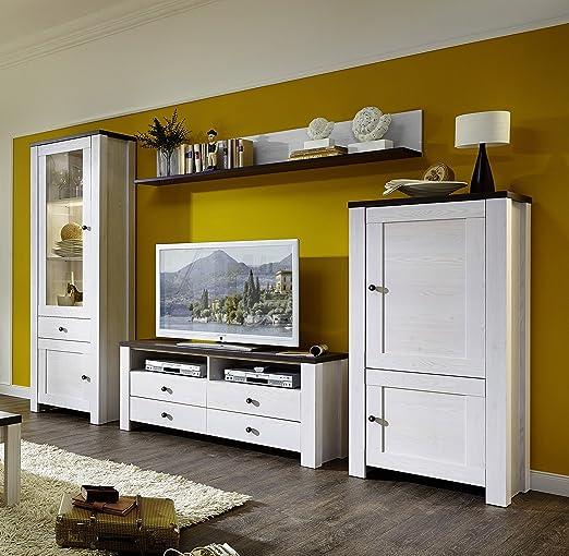 Stella Trading Anll711080 Wohnzimmerschrank Wohnwand Anbauwand Tv