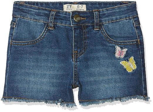 ZIPPY ZG25_430_17, Pantalones Cortos para Niñas, Azul (Dark Denim), 3 años (Tamaño del Fabricante:3/4): Amazon.es: Ropa y accesorios