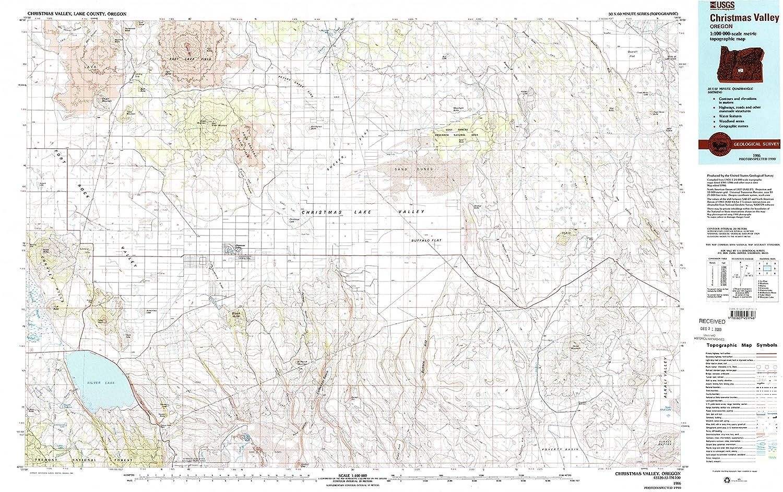 Amazon Com Yellowmaps Christmas Valley Or Topo Map 1 100000 Scale