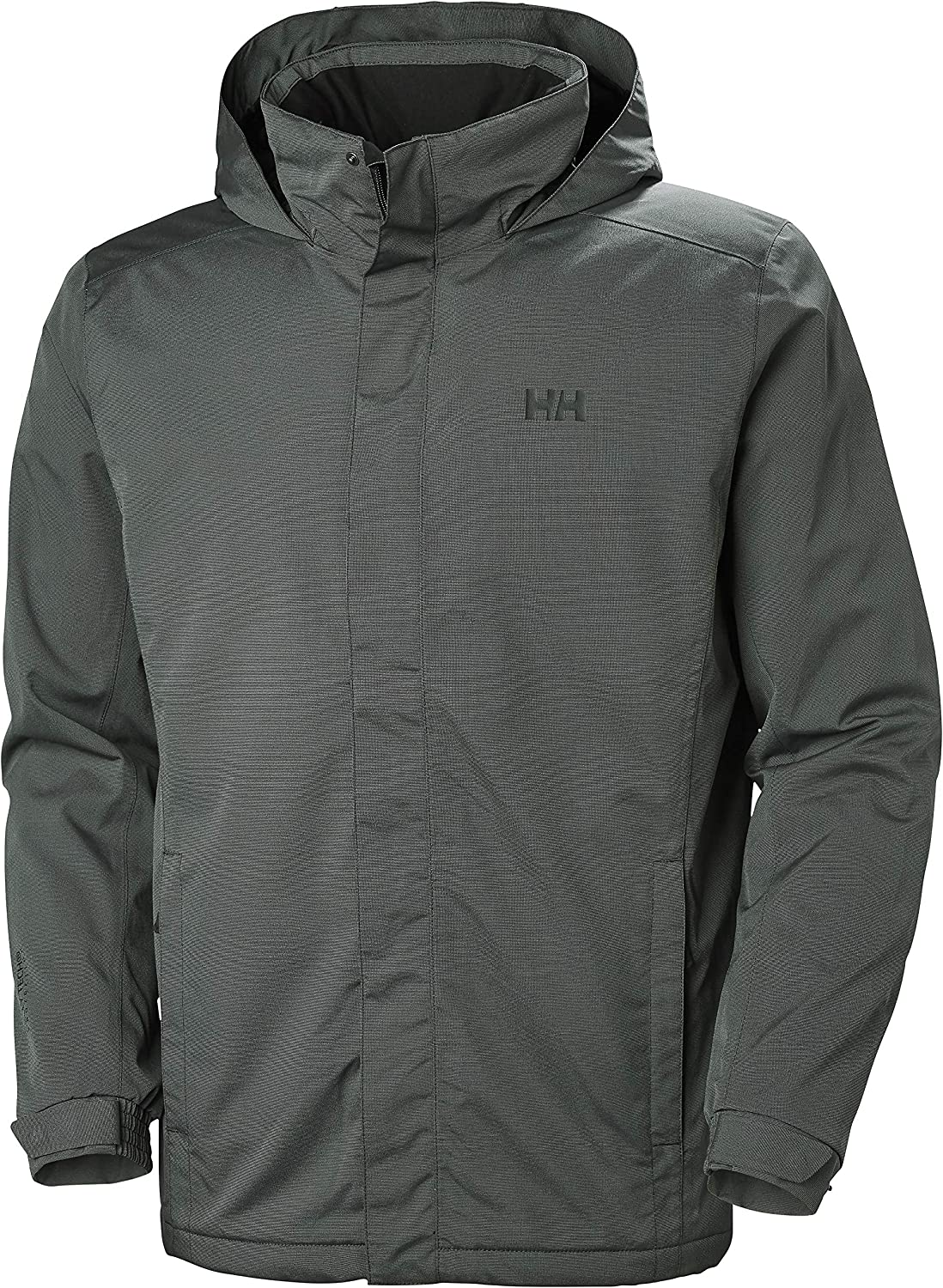 Helly Hansen Mens Waterproof Dubliner Insulated Jacket with Packable Hood for Cold Weather