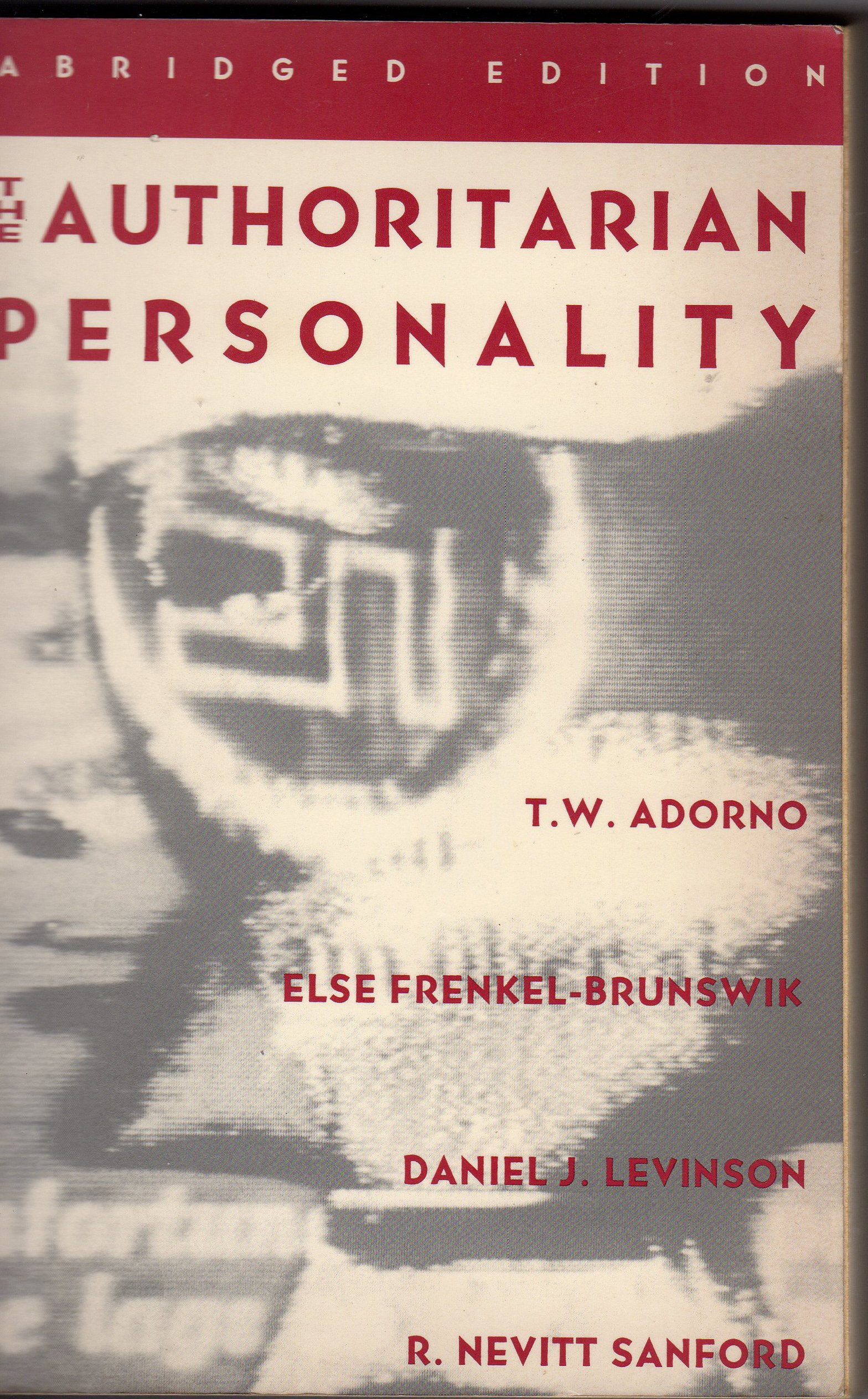 The Authoritarian Personality (Studies in Prejudice): Amazon.de ...