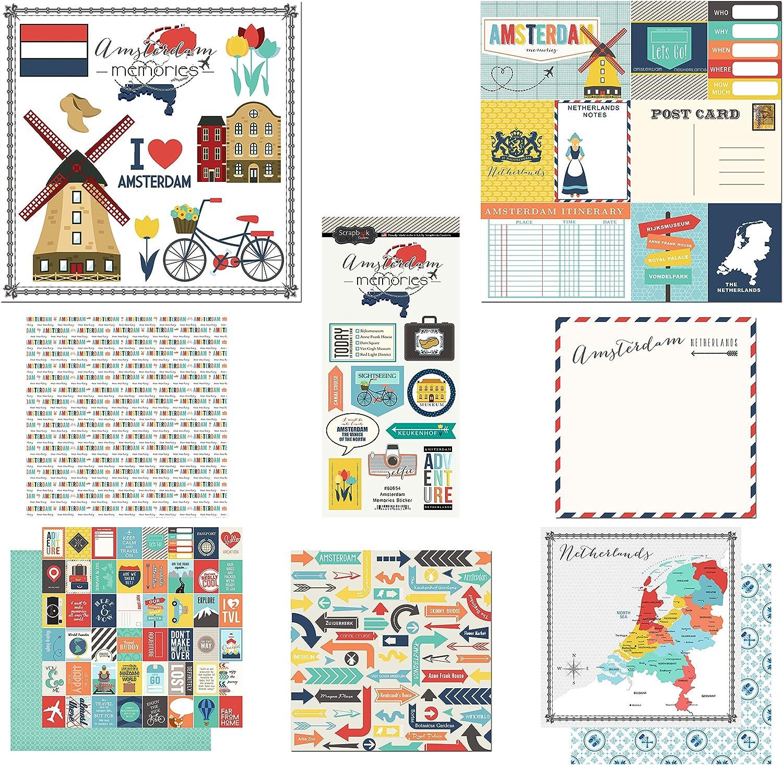 Scrapbook Customs Themed Paper and Stickers Scrapbook Kit, Amsterdam City Memories