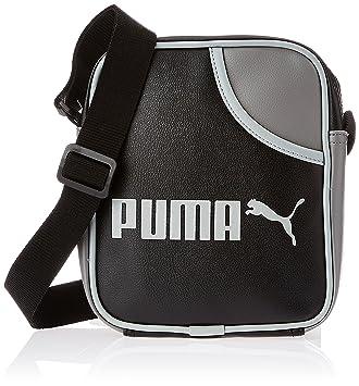 PUMA Messenger Bag Campus Portable, 21 cm, 2 liters, black-steel gray-limestone   Amazon.co.uk  Luggage 7bd667383a