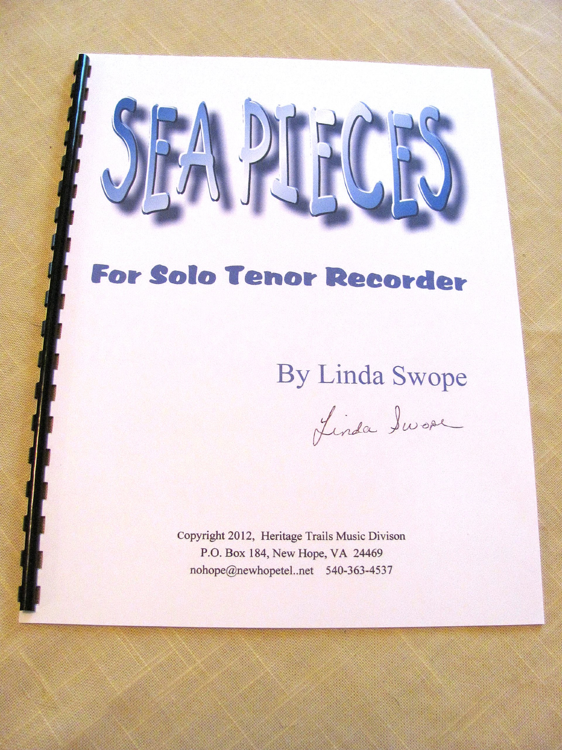 Sea Pieces for Solo Tenor Recorder by Linda Swope