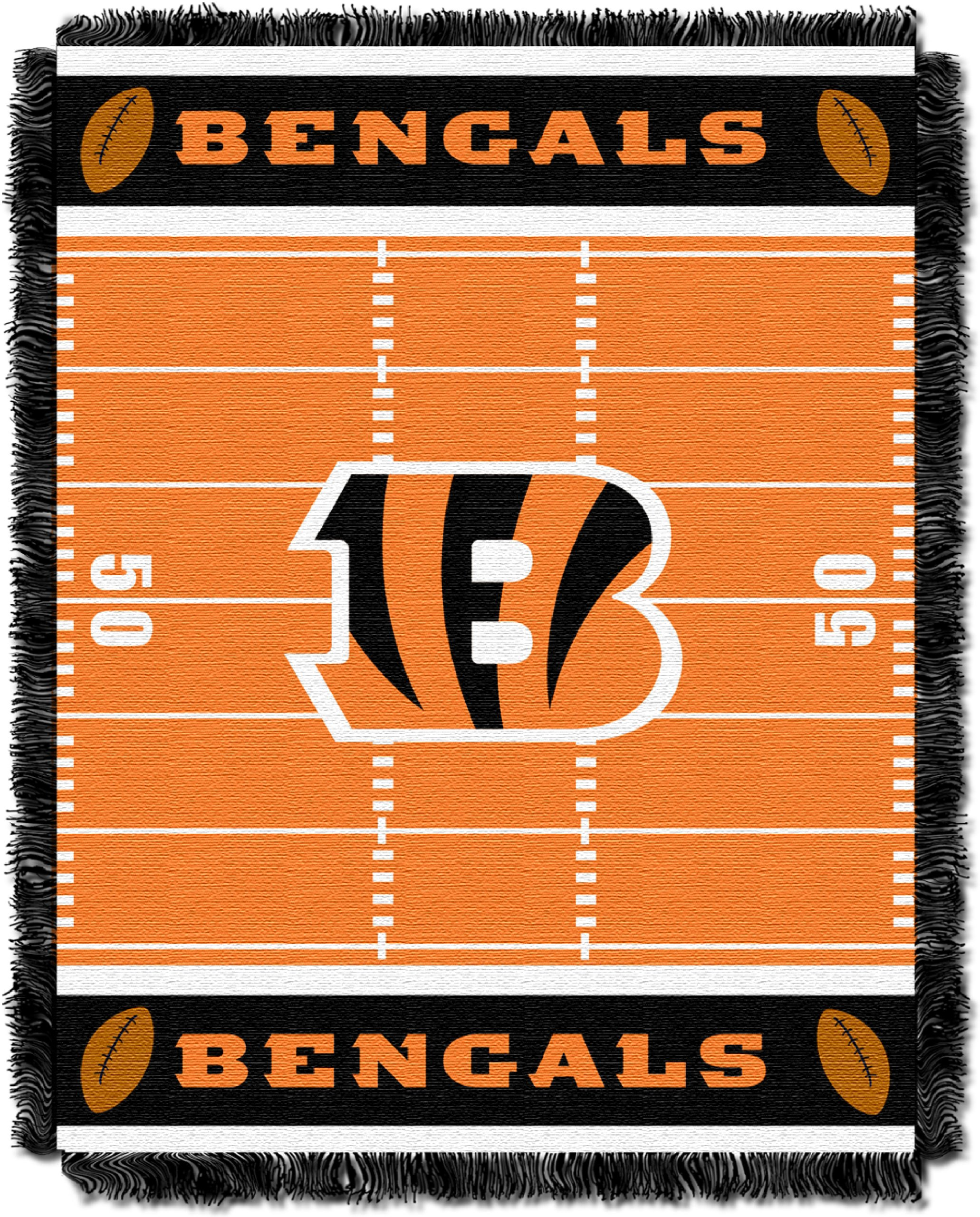 The Northwest Company Officially Licensed NFL Cincinnati Bengals Field Bear Woven Jacquard Baby Throw Blanket, 36'' x 46'', Multi Color by The Northwest Company