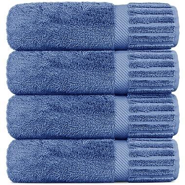 Luxury Hotel-Spa Turkish Cotton 4-Piece Bath Towels (Wedgewood)