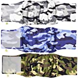 Pet Magasin Male Dog Belly Manner Band Wraps Nappies (3 Pack)… (Camo, Small)