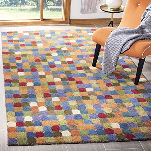 Safavieh Soho Collection SOH922A Handmade Abstract Polka Dot Multicolored Premium Wool Area Rug 7 6 x 9 6