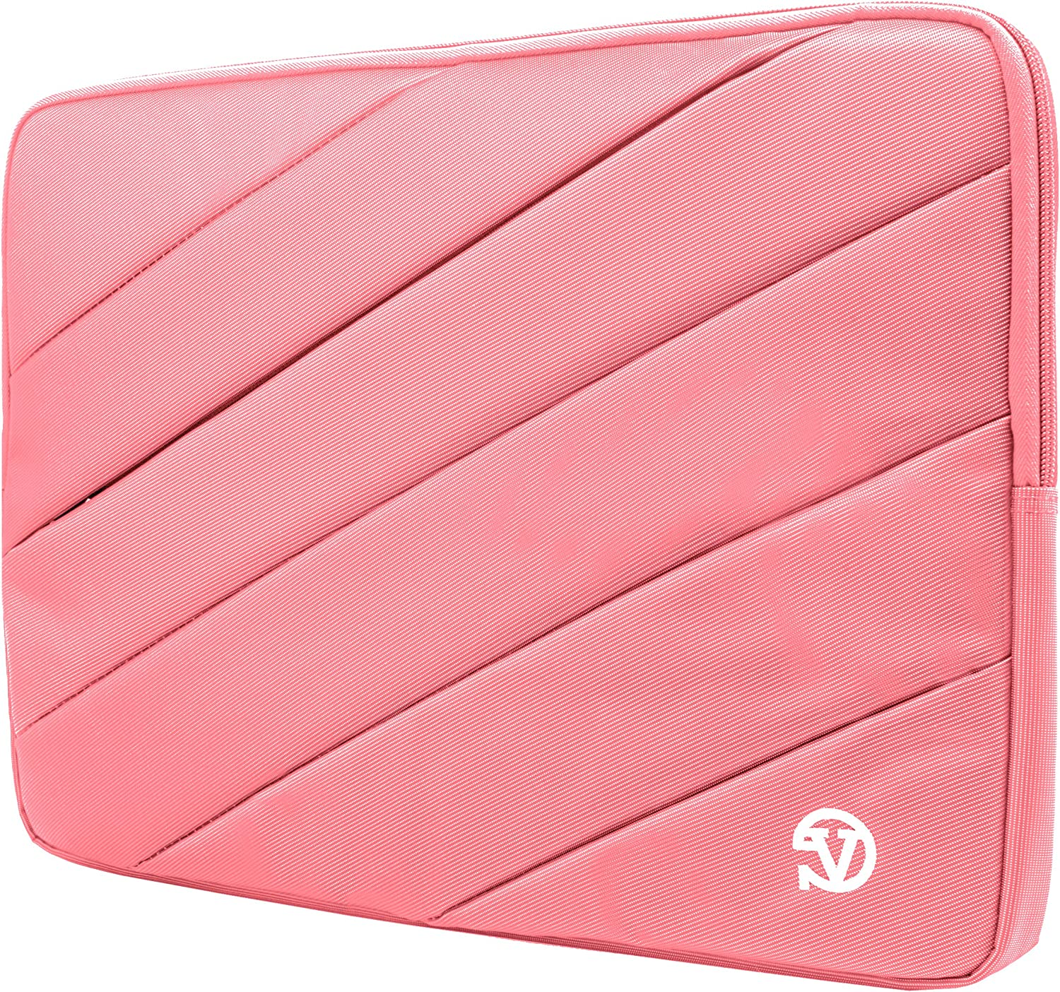 Protective Pink Shock Absorbing Laptop Sleeve for Dell Inspiron, Latitude, XPS, Precision, G3 G5 G7 15, Vostro, Alienware m15, m15 R2 14 to 15.6 inch