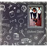 MBI 12x12 Inch School Days Chalkboard Expandable Scrapbook, Gray (860089)