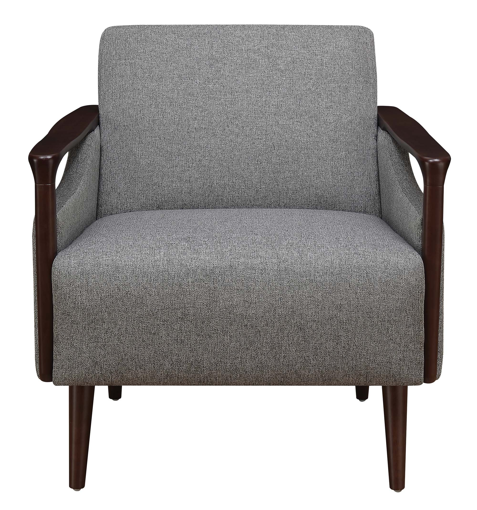 Coaster Home Furnishings Upholstered Accent Chair Grey and Brown - Set includes: One (1) accent chair Materials: Fabric, pine and plywood Material Content: 100% polyester - living-room-furniture, living-room, accent-chairs - A1V0 3eHM8L -
