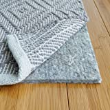 "RUGPADUSA, 8' Square, 1/3"" Thick, Basics 100% Felt Rug Pad, Safe for All Floors and Finishes, Made in the USA"