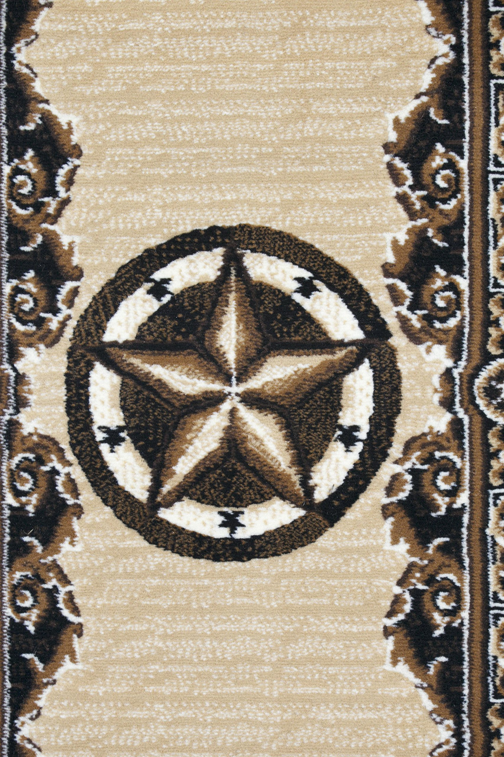 Rugs 4 Less Collection Texas Lone Star State Novelty