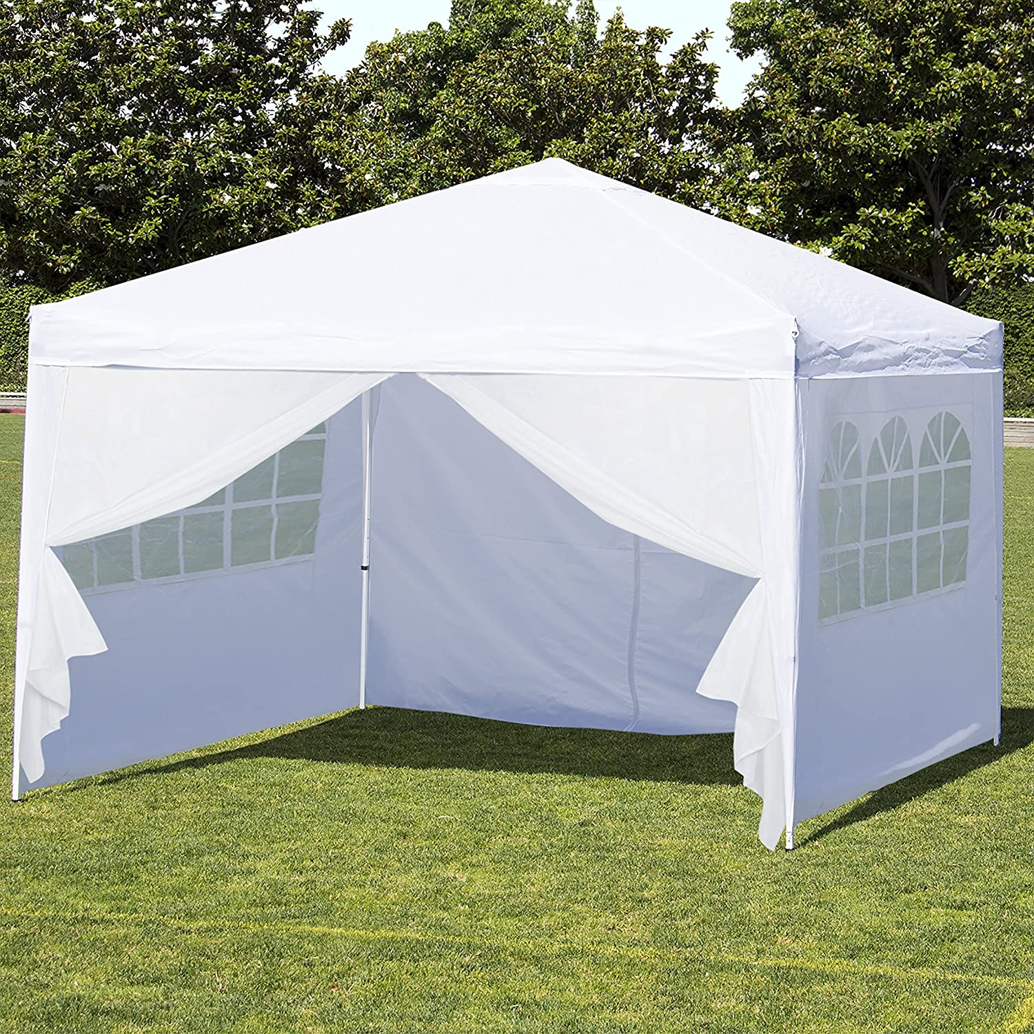 Best Choice Products 10u0027 x 10u0027 EZ Pop Up Canopy Tent Side Walls u0026 : 10x20 pop up canopy with sidewalls - memphite.com