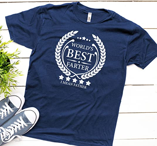 71df5c33 Amazon.com: World's Best Farter, I Mean Father T Shirt Fathers Day ...