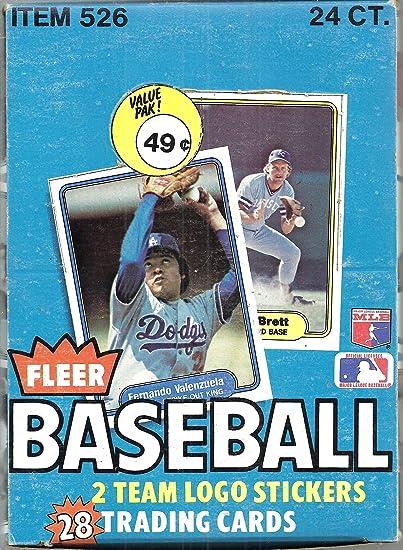 1982 Fleer Baseball Cello Pack from Box 28 cards Possible Ripken