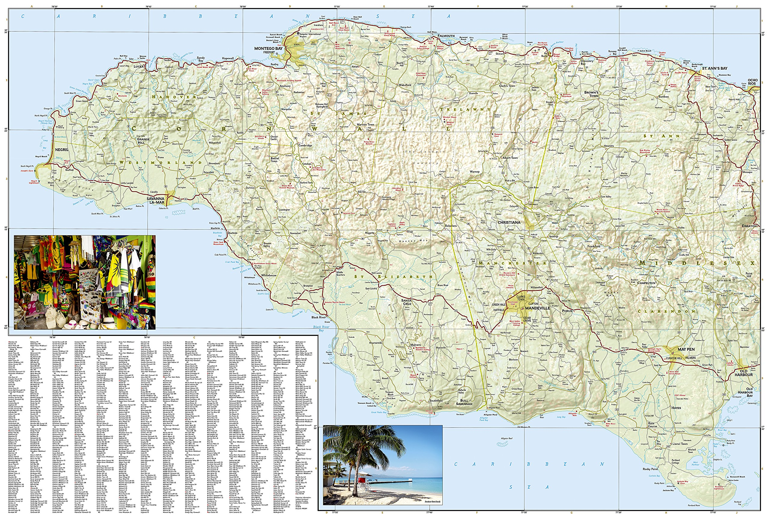 Jamaica national geographic adventure map national geographic jamaica national geographic adventure map national geographic maps adventure 9781597756181 amazon books gumiabroncs Gallery