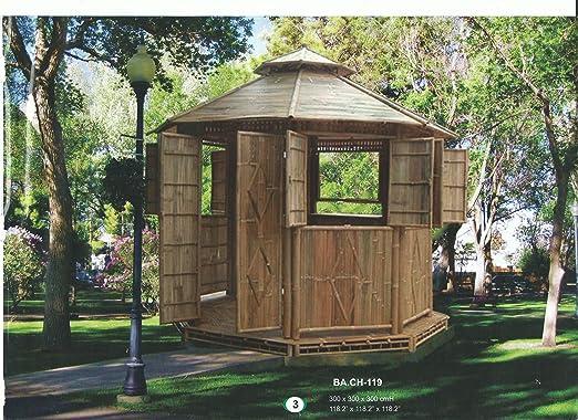 Bambú de Muebles de jardín Carpa Fiesta – Carpa Gazebo Jardín Tienda: Amazon.es: Jardín