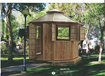 Amazon De Bambus Pavillon Gartenmobel Partyzelt Gazebo Pavillion