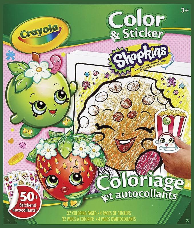 Crayola Shopkins Color And Sticker Book: Toys & Games - Amazon.com