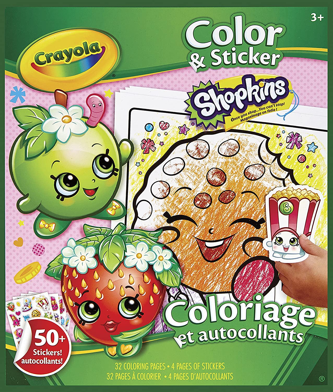Amazon.com: Crayola Shopkins Color and Sticker Book: Toys & Games