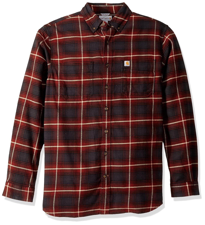 Carhartt Mens Big /& Tall Rugged Flex Hamilton Plaid Shirt