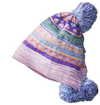 021fb64374b6a Amazon.com: MUK LUKS Women's Pom Hat-Multi, One Size: Clothing