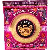 Siete Almond Flour Grain Free Tortillas, 8 Tortillas Per Pack, 2-Pack, 16 Tortillas