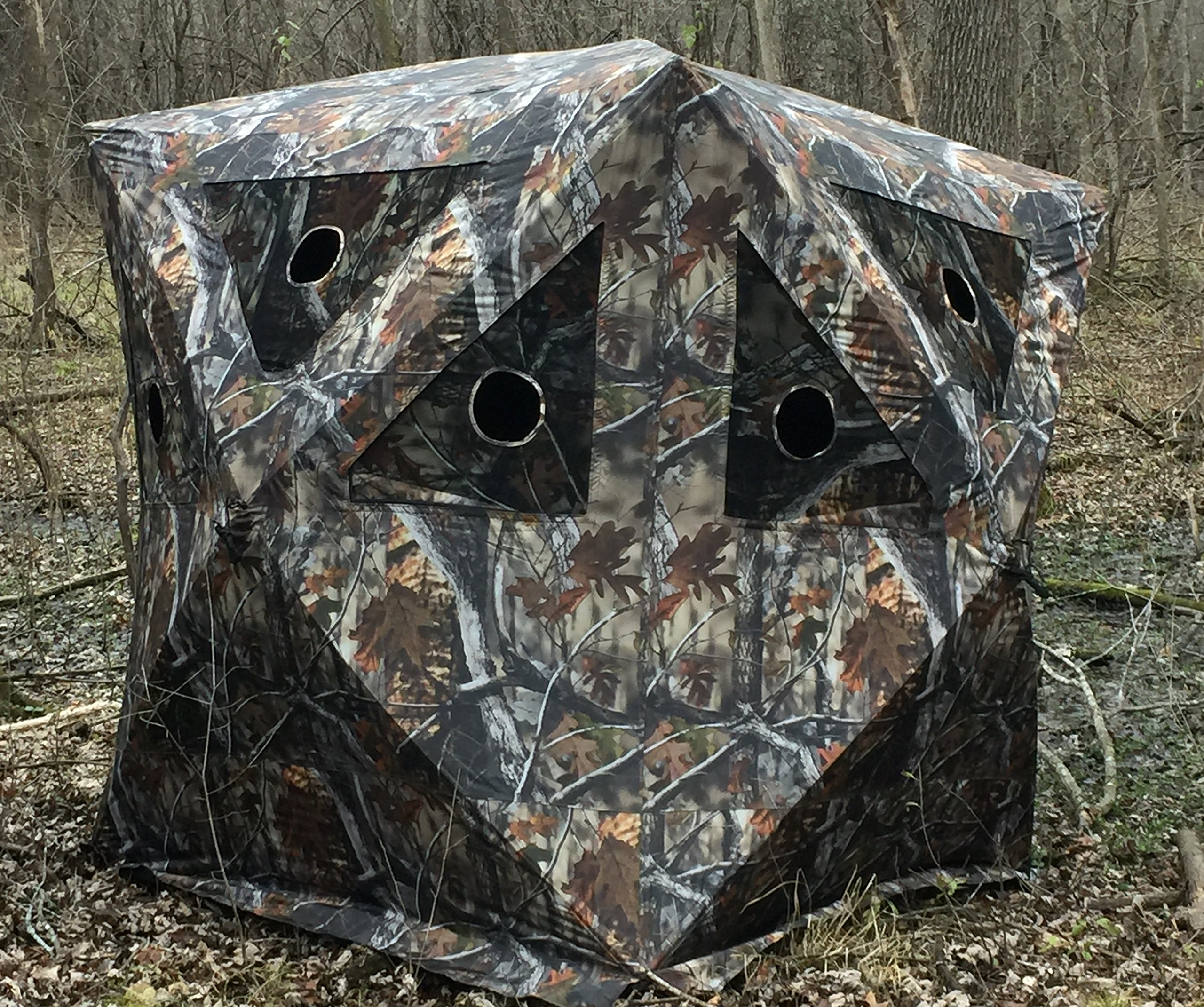 Rusk ''Camo Cabin'' Four Man Hub Blind by RUSK (Image #1)