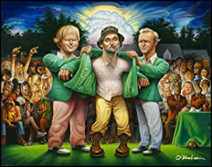 """The Green Jacket. A Tribute to Carl Spackler and 1980 Fine Art Offset Print 22"""" by 28"""""""