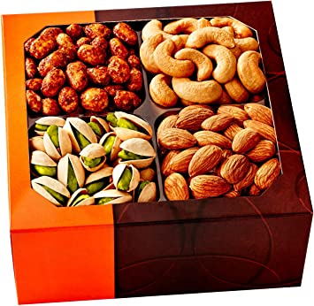 Amazon holiday gift basket gourmet food nuts 4 different holiday gift basket gourmet food nuts 4 different delicious nuts five star negle Choice Image
