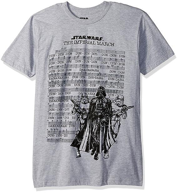 292aade5782 Amazon.com  Star Wars Men s Darth Vader March Sheet Short Sleeve T ...