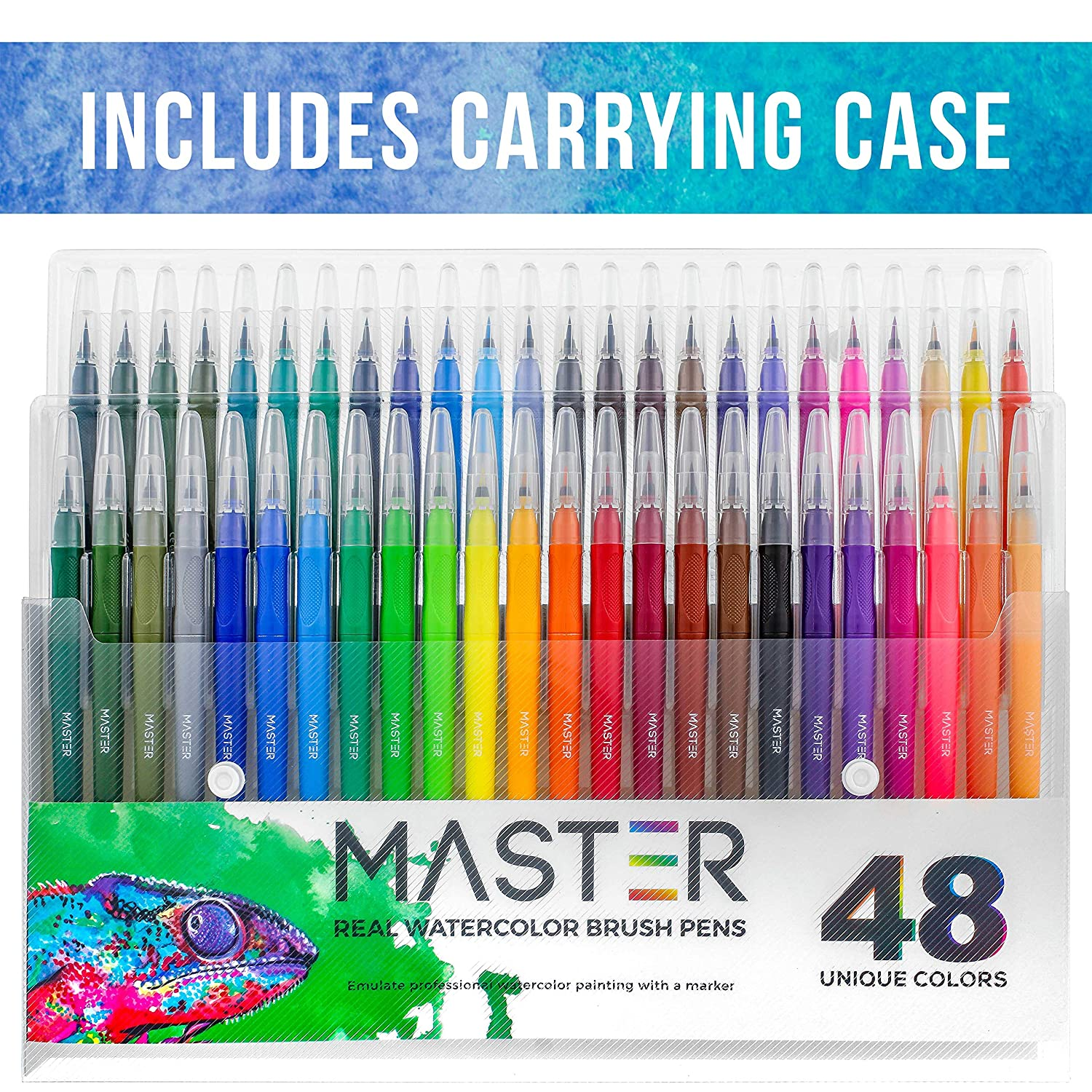 Calligraphy Adult Coloring Books 48 Color Master Markers Watercolor Soft Flexible Brush Tip Pens Set Drawing Writing Sketching Manga Art Fine /& Broad Lines Comic Vibrant Colors