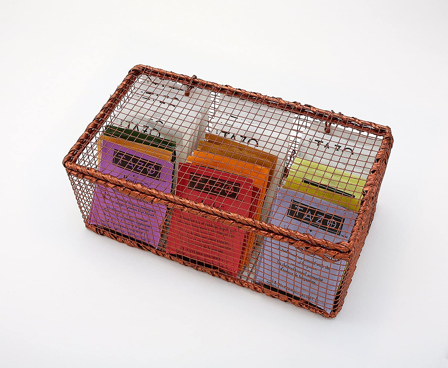 Copper Wire Tazo Tea Box Sampler - Tazo Tea, Tea Chest, Tea Storage, Kitchen Organizer, 30 Tazo Teabags in 10 Assorted Flavors Products-Group Inc.