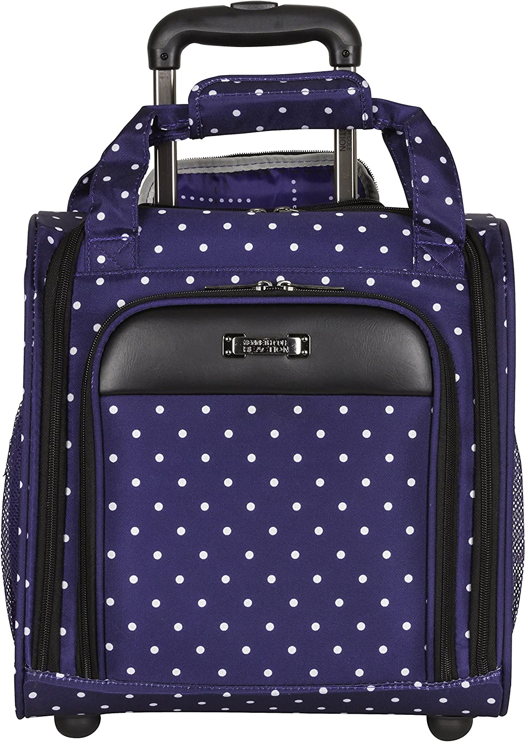 "Kenneth Cole Reaction Dot Matrix 14"" Lightweight 2-Wheel Underseater Carry-On Luggage, Navy"