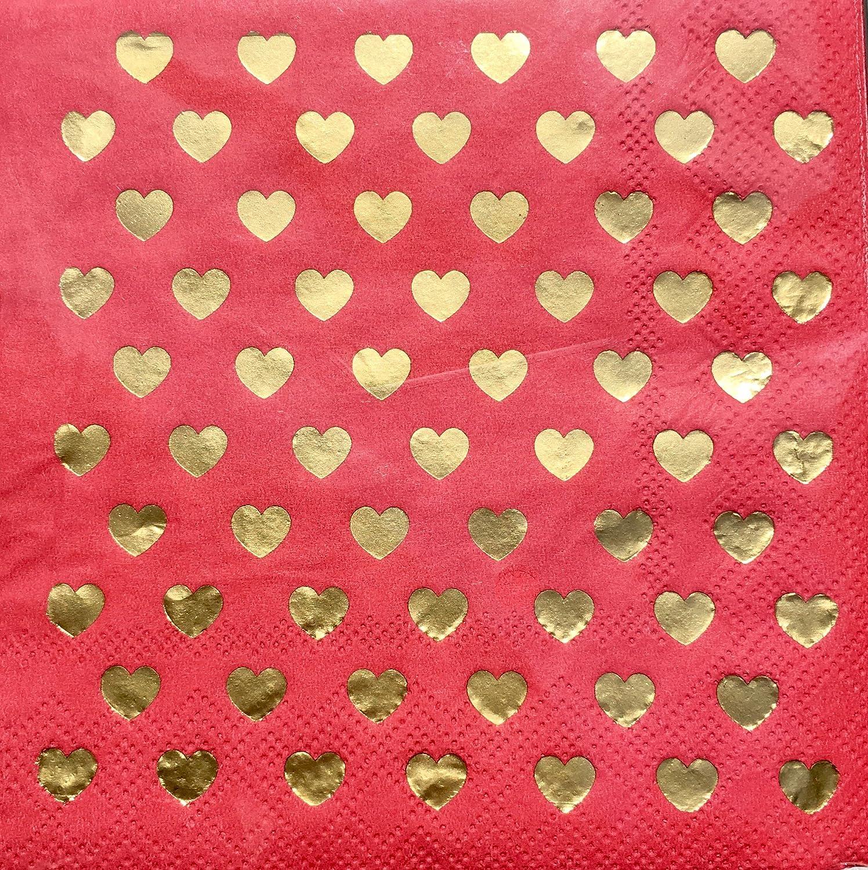 40 ct Lady Jayne Ltd Cocktail Beverage Paper Napkins ~ Sprinkle of Hearts 29254