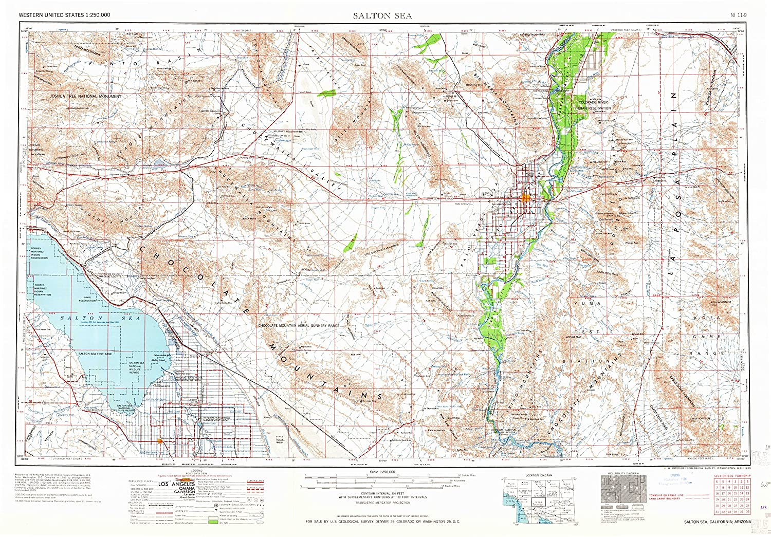 Amazoncom Salton Sea CA Topo Map Scale X Degree - Salton sea on us map