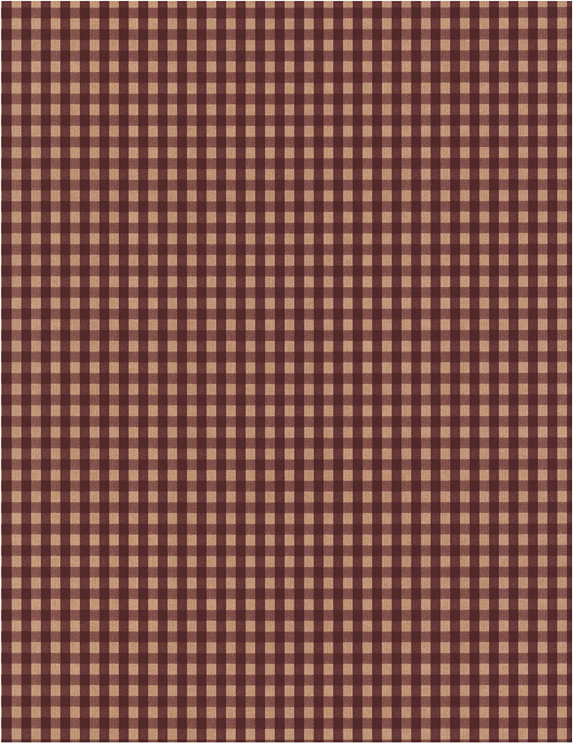 Amazon Com York Wallcoverings Best Of Country Pv5215 Gingham Wallpaper Burgundy Tan Home Improvement