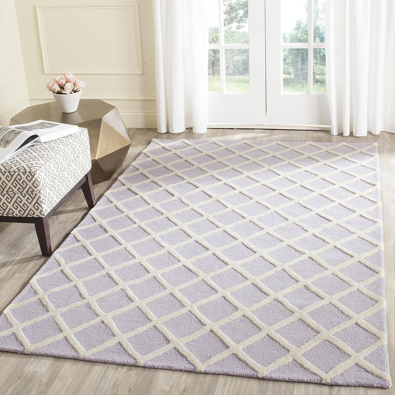 Safavieh Strukturierter Teppich, CAM135, Gewebter Polypropylen, Lavendel/Elfenbein, 182 X 274 cm