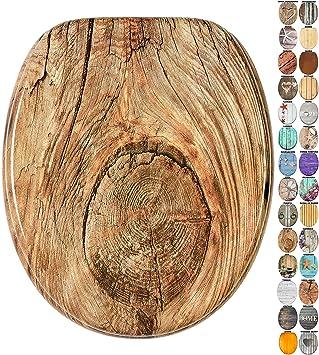 Asiento de inodoro Caoba gran selecci/ón de atractivos asientos de inodoro de madera con calidad superior y duradera