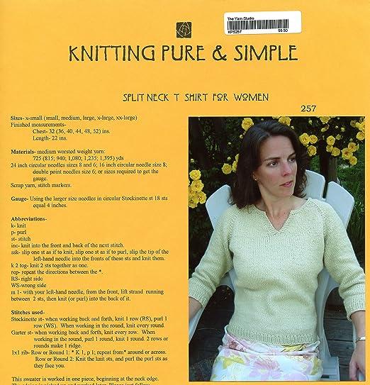 Amazon Split Neck T Shirt For Women Knitting Pure Simple