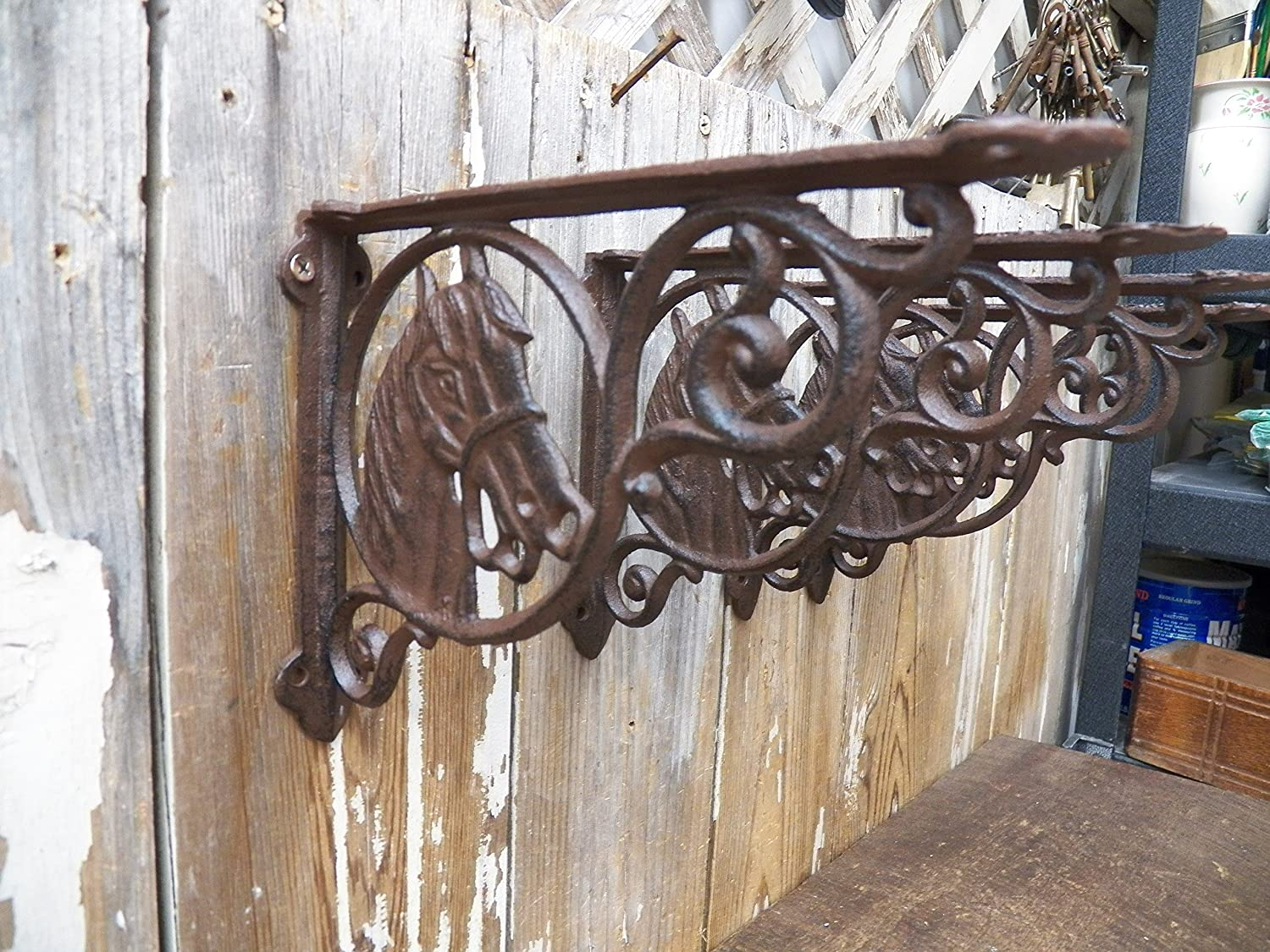HOME GARDEN FENCE POST HANGING CAST IRON VINTAGE REPRO 1 PLEASE CLOSE THE GATE