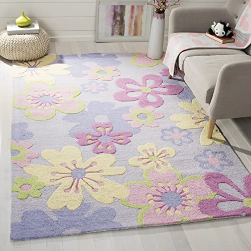 Safavieh Safavieh Kids Collection SFK314A Handmade Multicolored Cotton Square Area Rug 7 Square