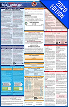 Amazon Com Sc Labor Law Poster 2020 Edition State Federal