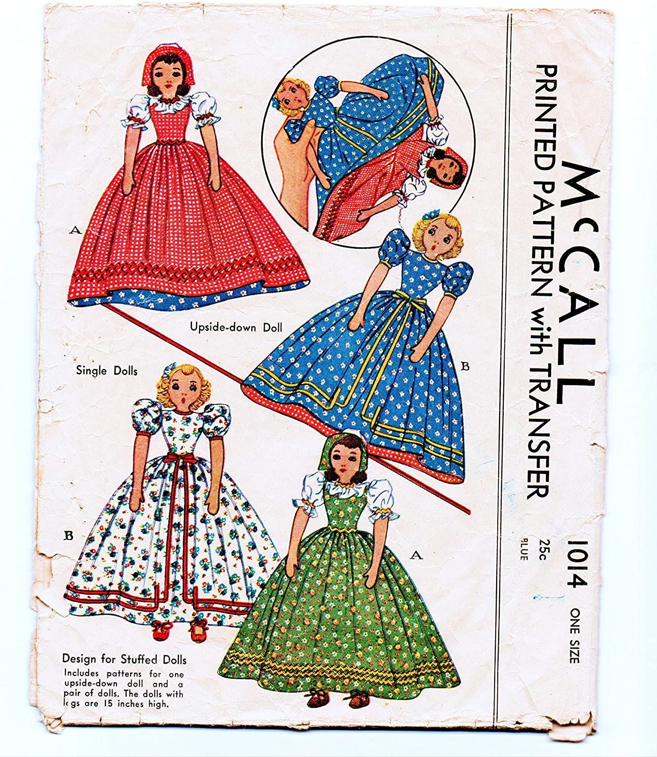 Vintage 1940s Stuffed Doll /& Clothes Pattern