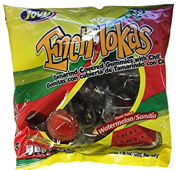 Jovy Enchilokas Watermelon Flavor | 1lb, 32 ct | Mexican Candy