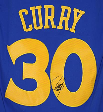 cheaper 338a7 399ff Stephen Curry Golden State Warriors Signed Autographed Blue ...